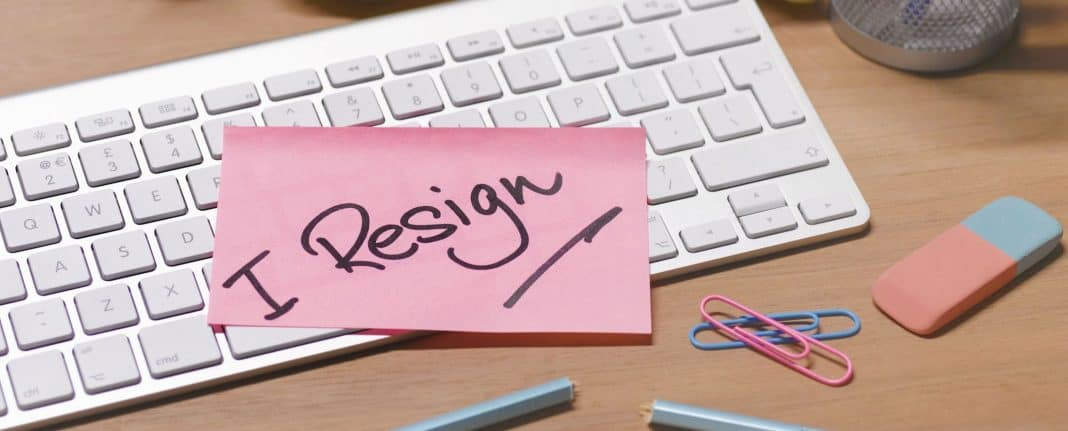 I resign from my teaching job