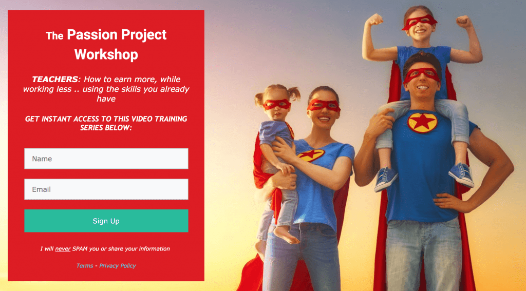 The Passion Project Workshop
