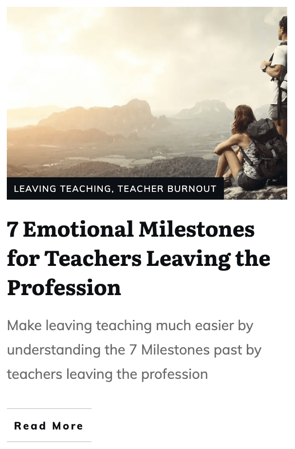 teachers feeling guilty about leaving the classroom